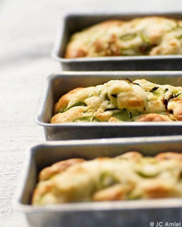 Petits cakes aux courgettes et aux fèves