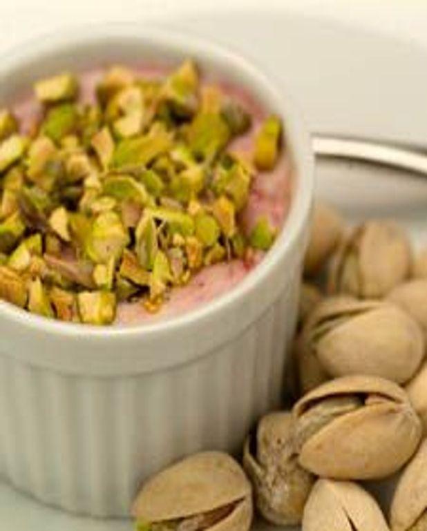 Petits gratins de framboises aux pistaches