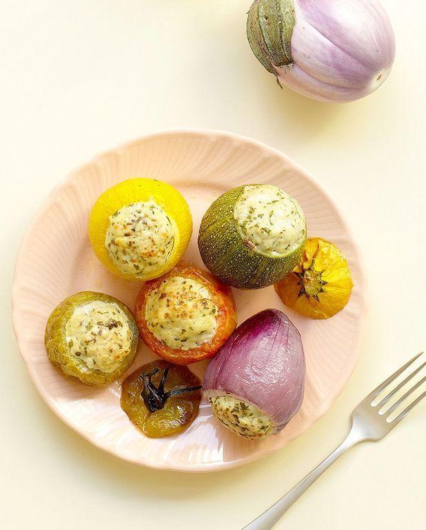 Petits légumes farcis au poulet