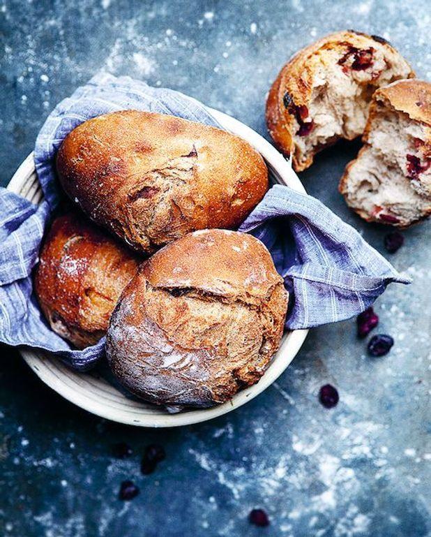 Petits pains aux cranberries