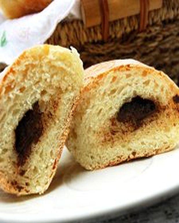 Petits pains sans pétrissage, au lait et au chocolat