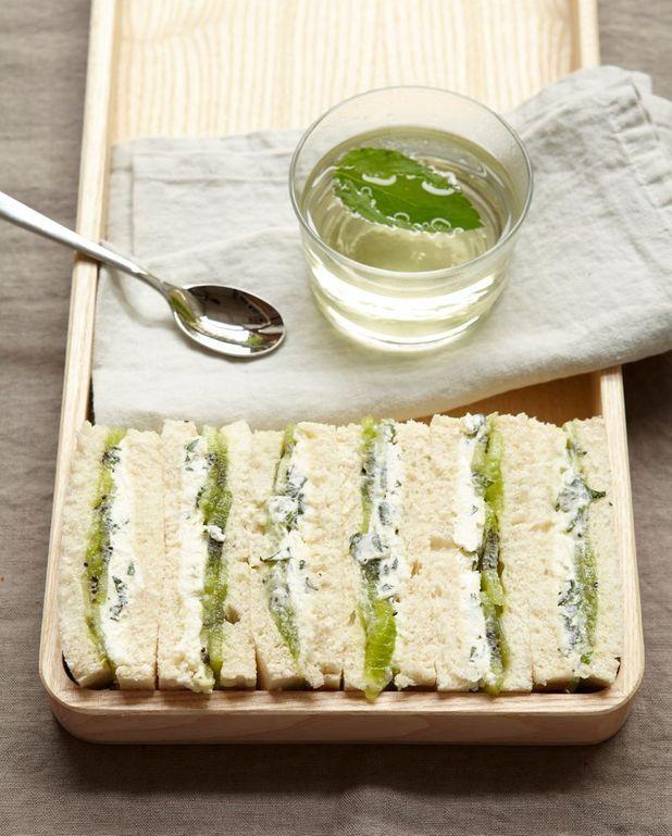 Sandwiches au kiwi et cream cheese