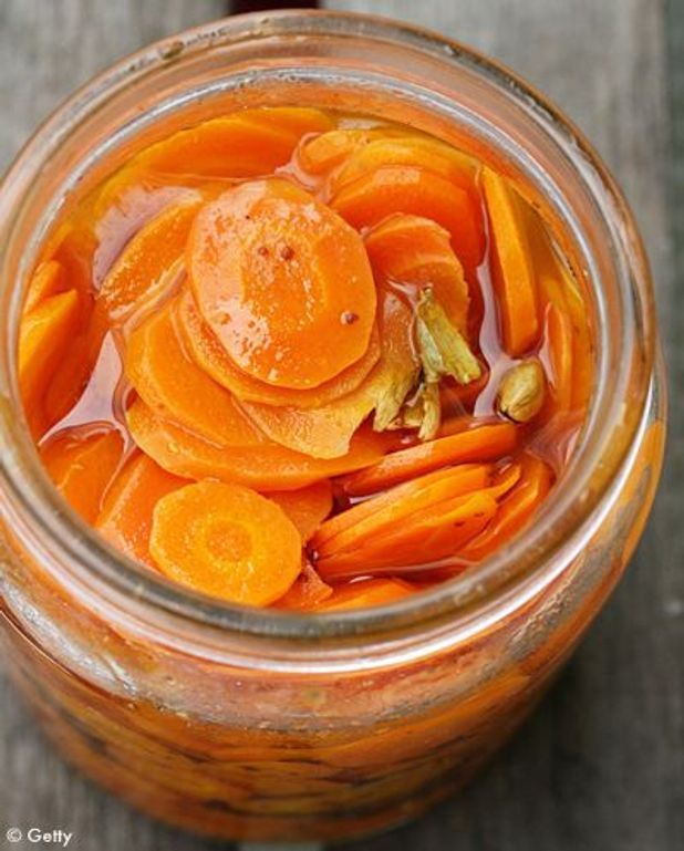 Pickle de carottes au gingembre