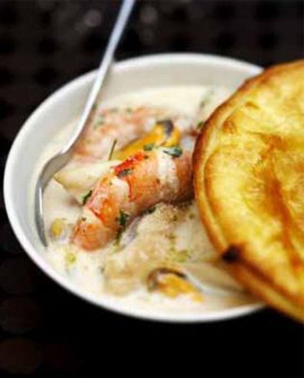 Pie de poisson, coquillages et crustacés