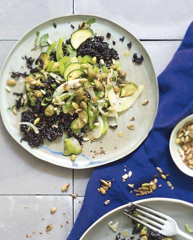 Pilaf de riz noir aux légumes