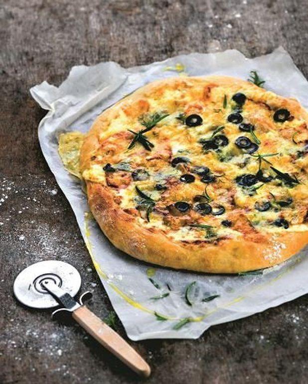 Pizza aux restes de fromages
