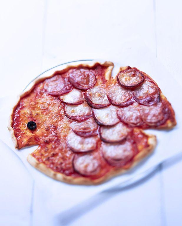 Pizza en forme de poisson