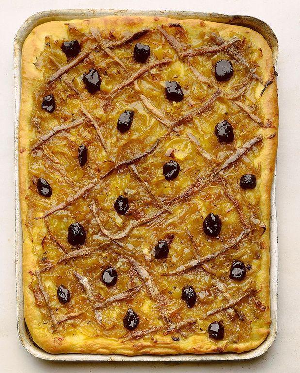 Pizza oignons-anchois