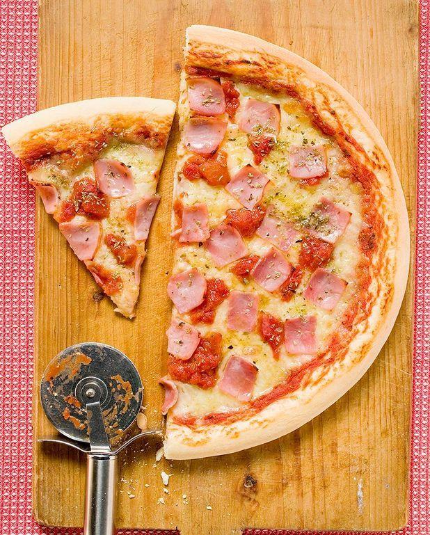 Pizza tomate-jambon