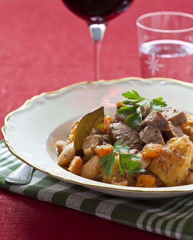 Mijoté de porc, pommes de terre et carottes