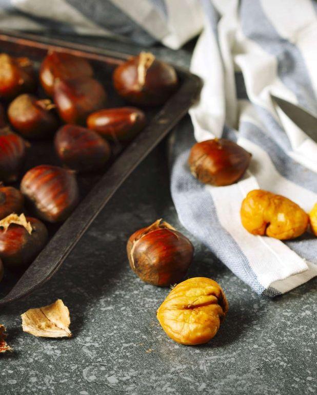 Poêlée de marrons et de lardons