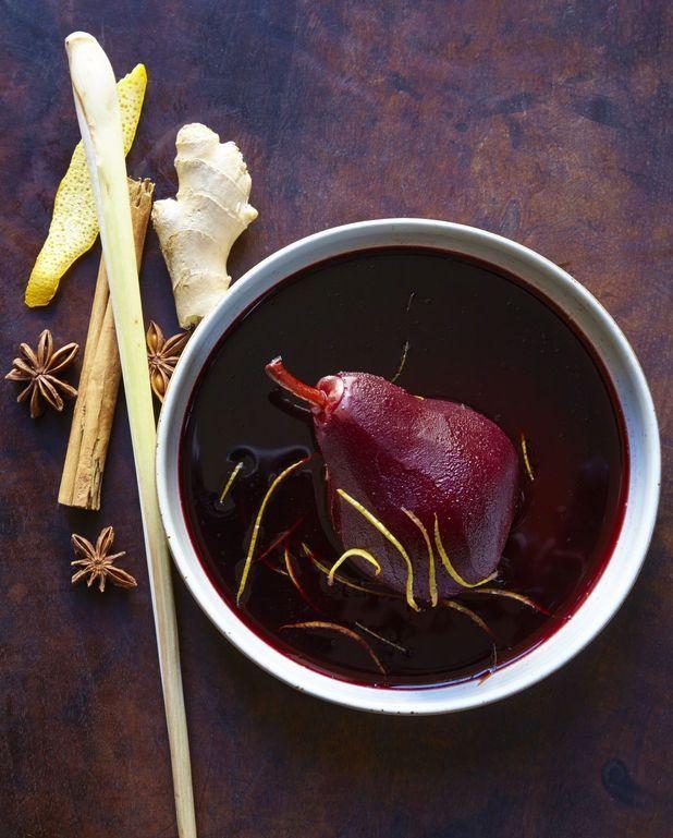 Poires au vin à la vanille