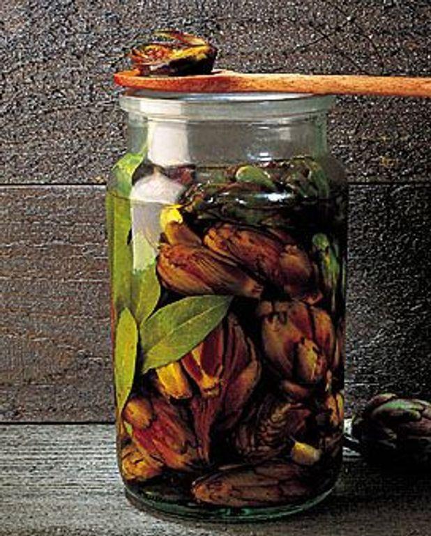 Poivrades à l'huile d'olive