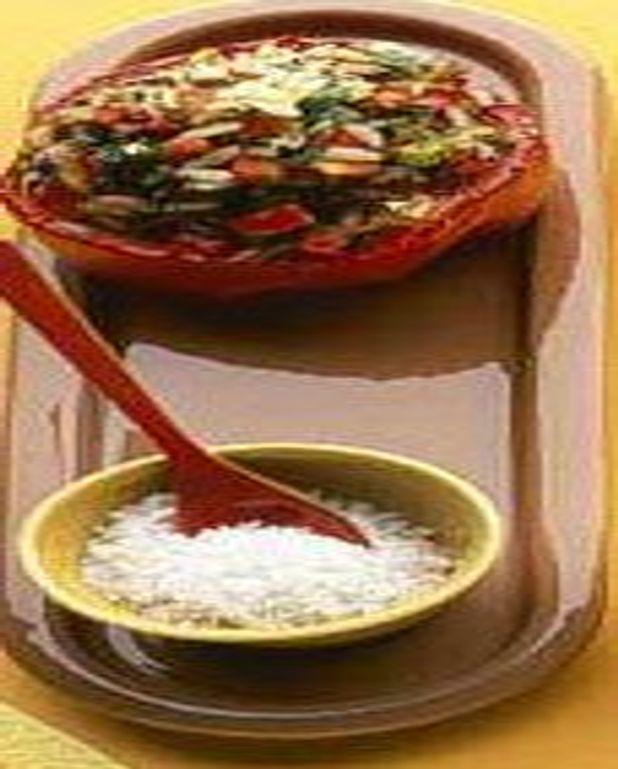 Poivrons et courgettes au riz et à l'aneth