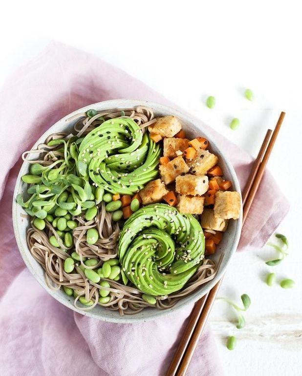 Poke bowl vegan aux nouilles soba