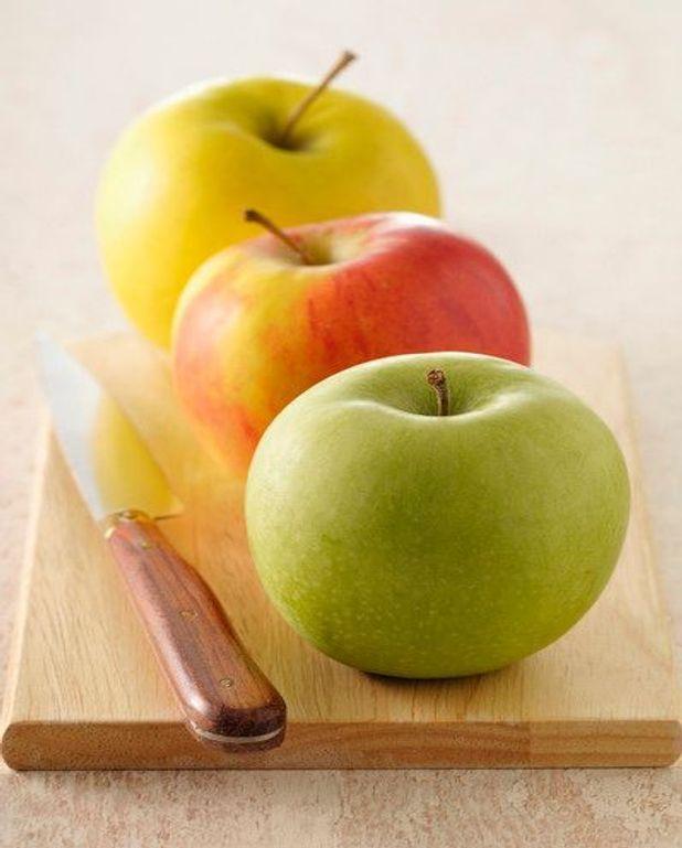 Pommes aux framboises