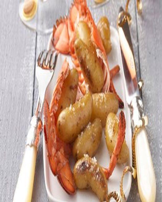 Pommes de terre aux sucs de homard