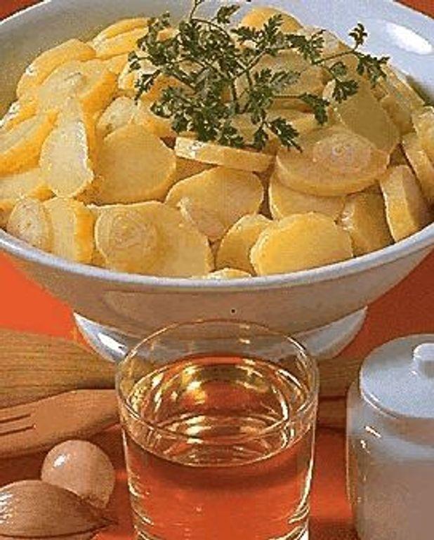 Pommes de terre en salade au vin blanc