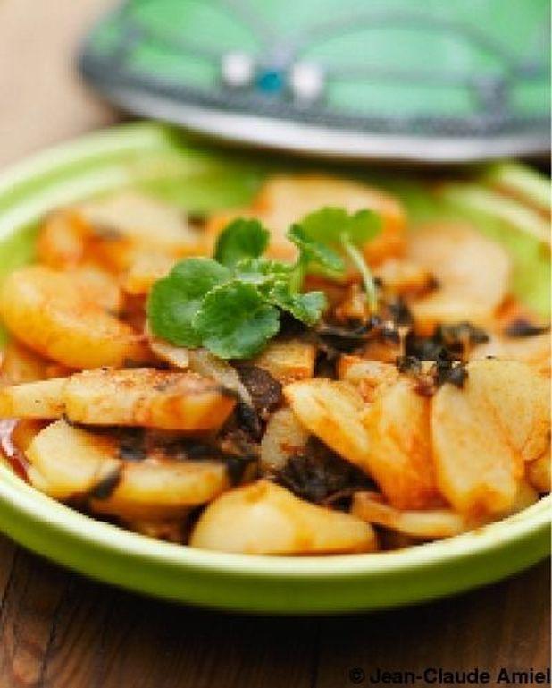 Pommes de terre  et menthe nepita