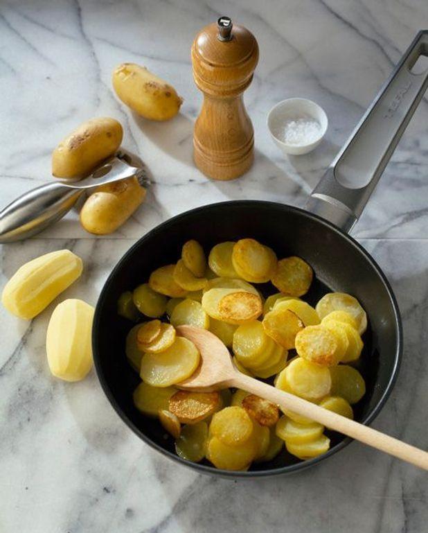 Pommes de terre et tagliatelles de saumon fumé