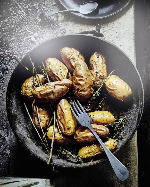 Pommes de terre fumées