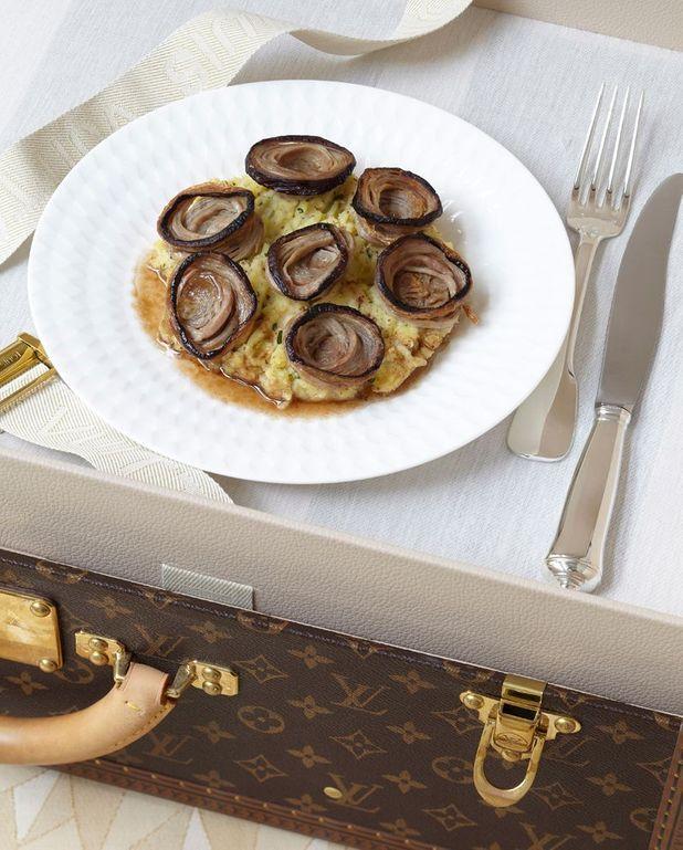 Pommes rattes en vinaigrette à l'andouille de Guéméné