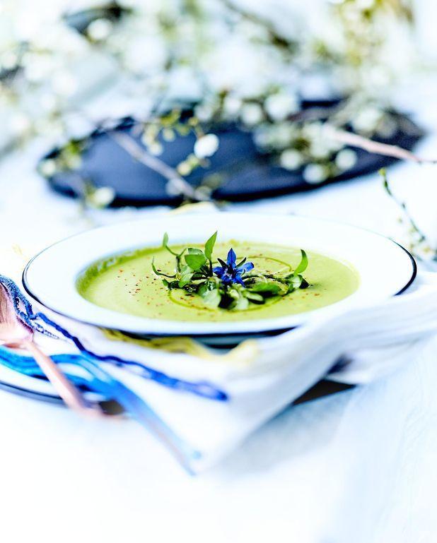 Potage aux asperges vertes