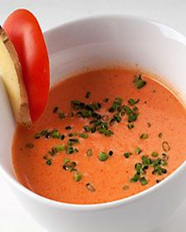 Potage de tomate et gingembre