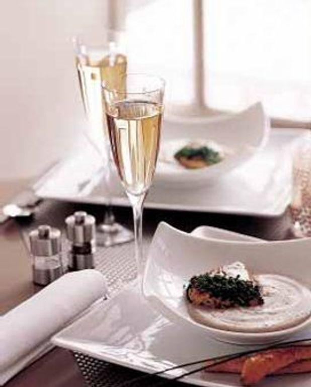 Poule faisane et crème de lentilles, foie gras de canard poêlé
