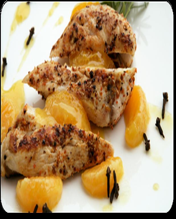 Poulet à l'orange et aux canneberges