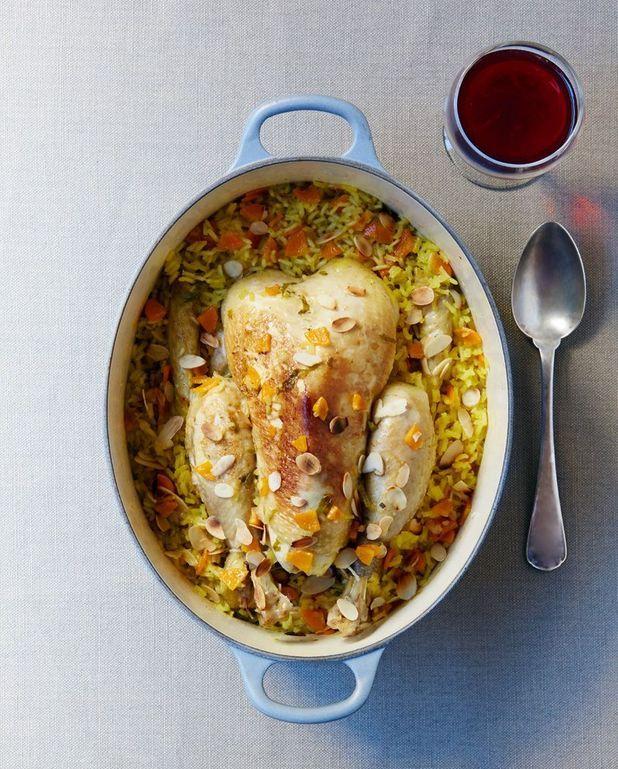 Poulet au riz safrané pour 6 personnes - Recettes Elle à Table