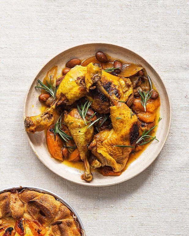 Poulet aux abricots et curry