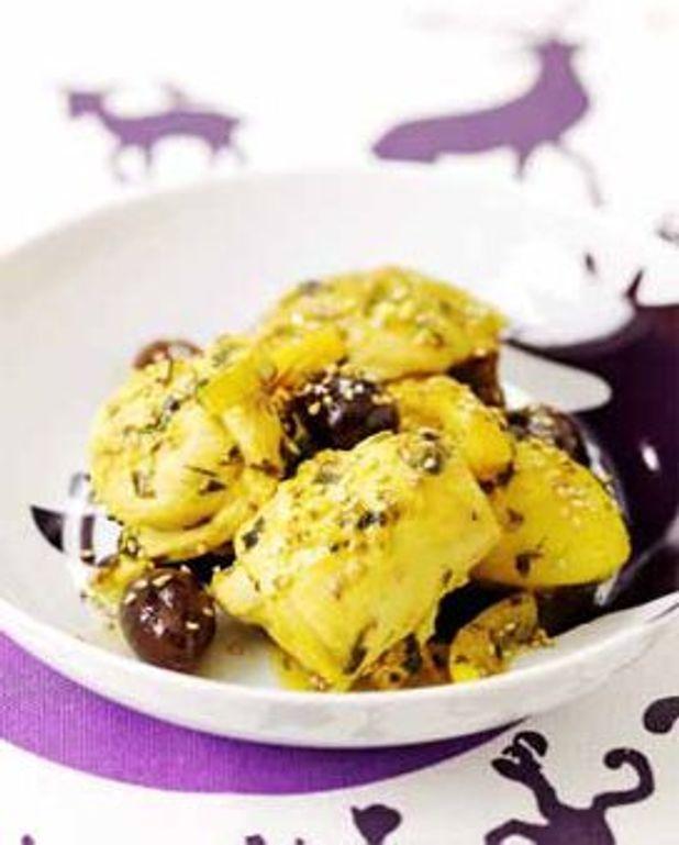 Poulet confit aux olives et au citron