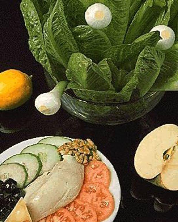 Poulet en salade-dîner