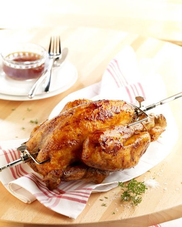 Poulet rôti au barbecue