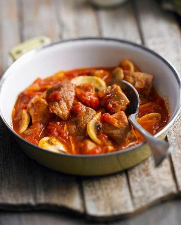 Poulet, sauce tomate orange coriandre