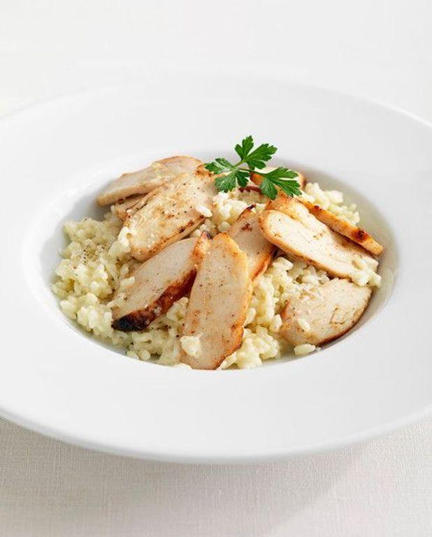 Salade au poulet et aux champignons