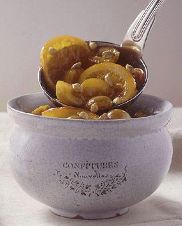 Quetsches et pommes à l'anis et à la vanille