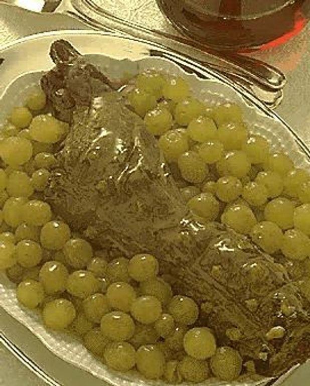 Râble de lièvre aux raisins
