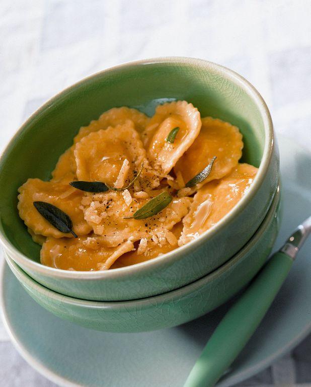 Raviolis à la ricotta et au beurre de sauge