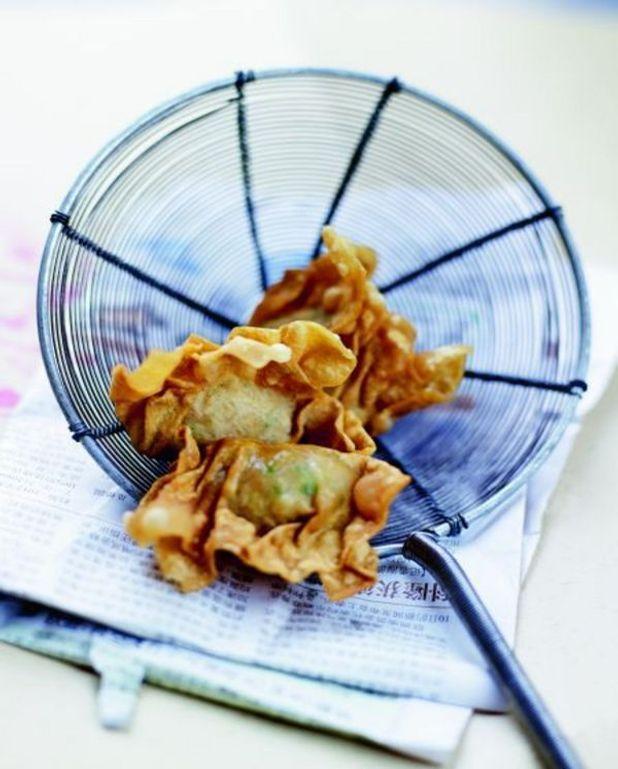 Raviolis frits au crabe