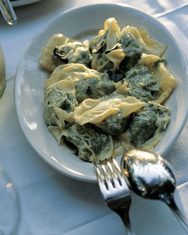 Raviolis ricotta épinards, beurre à la sauge