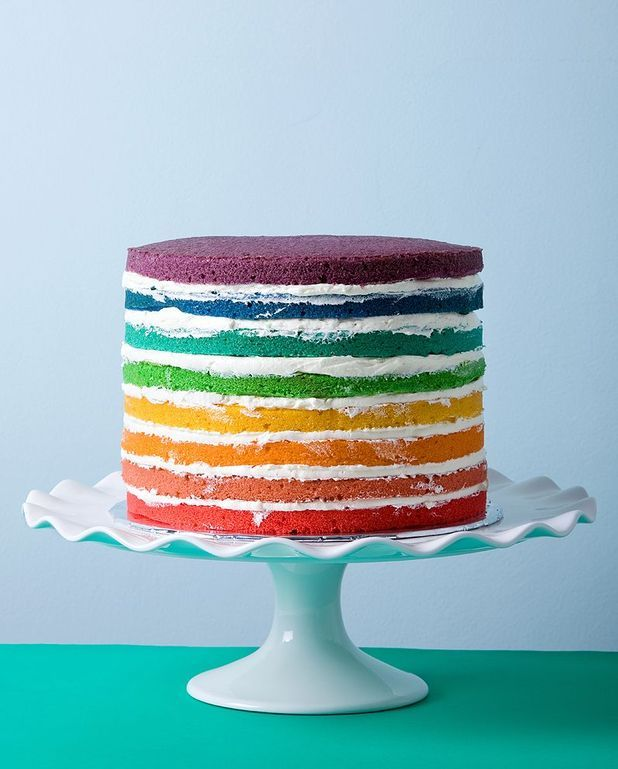 Rainbow cake ScrapCooking