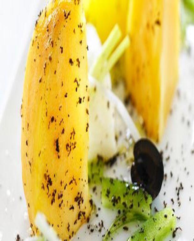 Remojon (salade) de kaki persimon à la morue