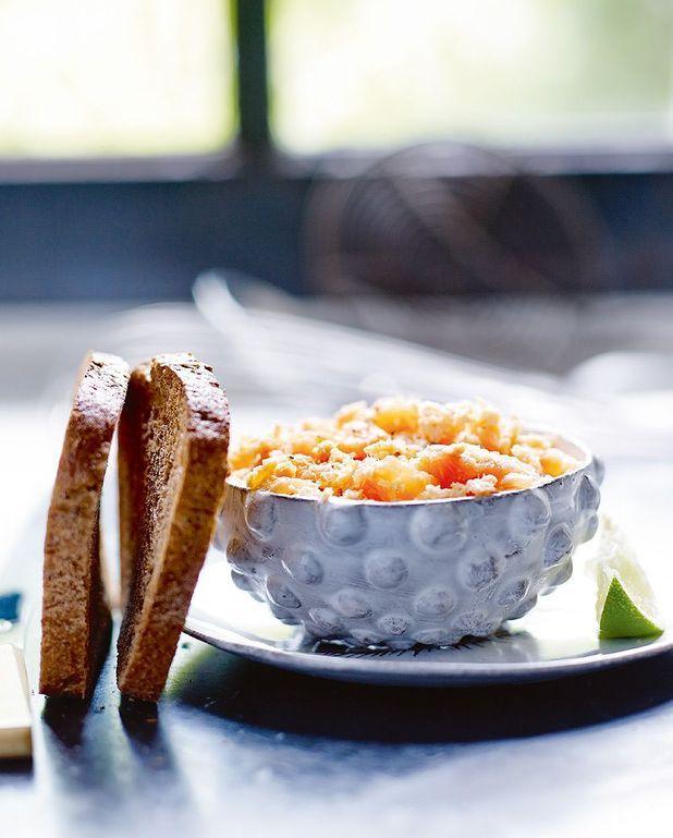Rillettes aux deux saumons, tartines au sarrasin sans gluten
