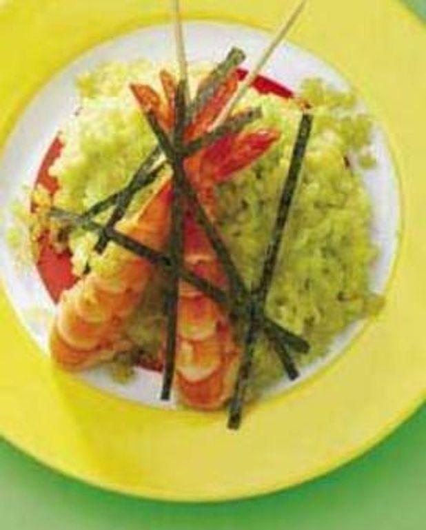 Risotto wasabi et gambas
