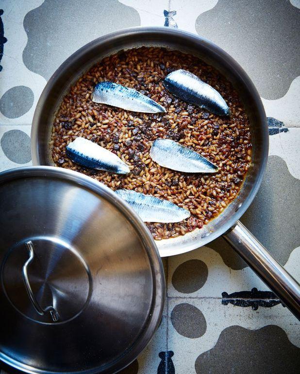 Riz au boudin et aux sardines