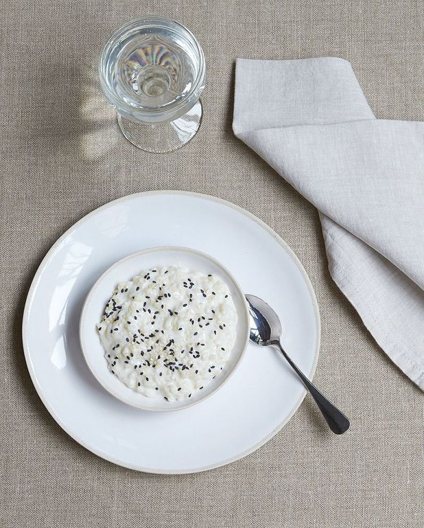 Riz au lait coco-sésame