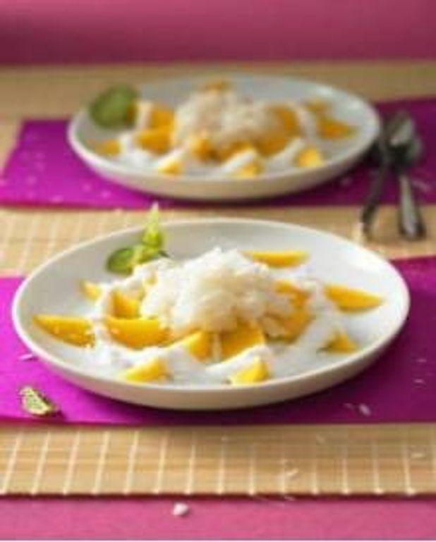Riz gluant mangue lait de coco  (Khao Niao mamuang)
