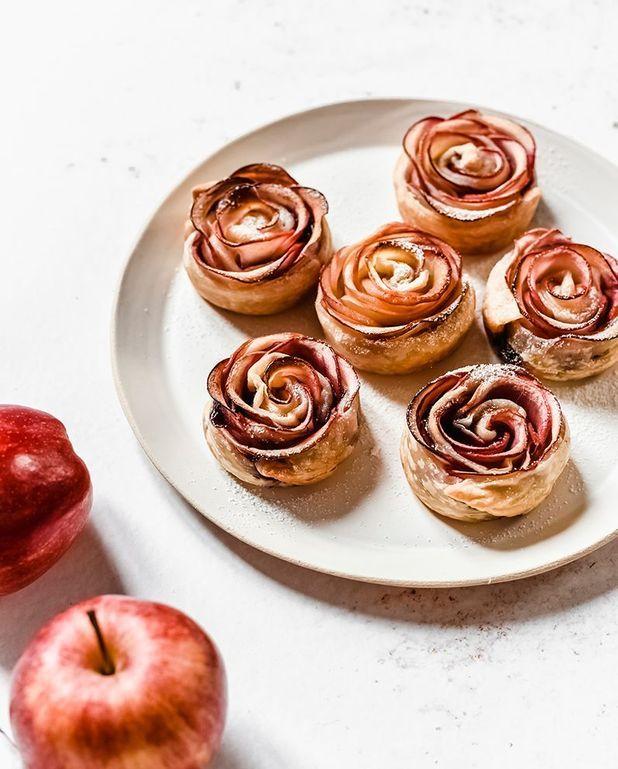 Roses de pomme feuilletées